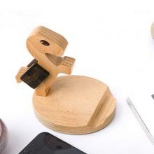 多功能可爱小马懒人木质手机座通用支架生日礼物创意礼品