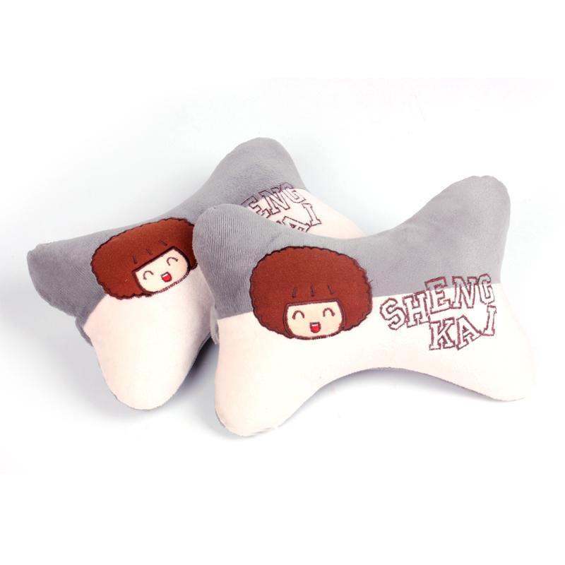 汽车毛绒头枕 可爱娃娃头枕